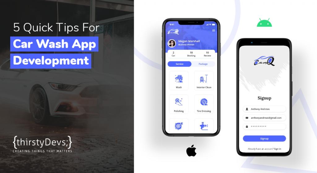 5 tips for car wash app development