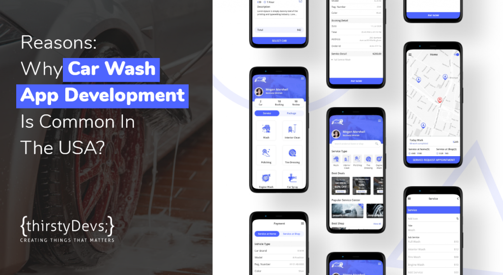 Most common Reasons for Car Wash App Development used in USA